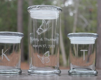 Three Piece Sand Ceremony Set, Wedding Keepsake, Unity Ceremony Set