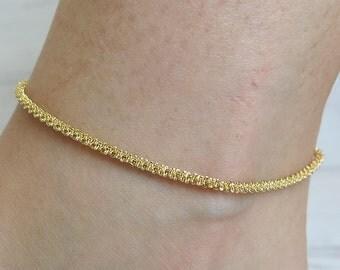 anklet, gold anklet,ankle bracelet,rope anklet,chain anklet,beach anklets,dainty anklet,sparkle anklet,thin gold anklet,women anklet,anklets