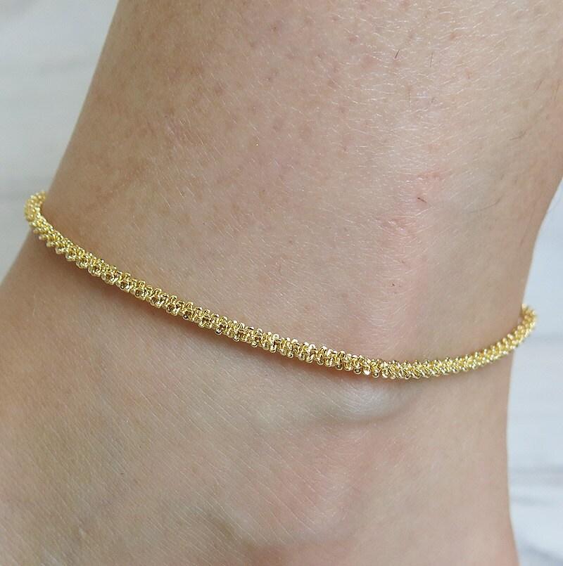 anklet gold anklet anklet bracelet boho anklet chain by