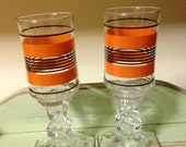 Vintage Juice Glasses, Set of two, for Special Occasions