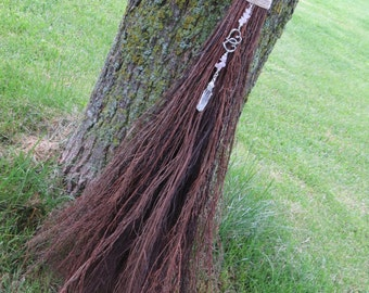 Broom, Witch's Broom, Handmade Natural Broom, Traditional Handfasting Besom, Natural Broom, Witchcraft, Wiccan Wedding, Pagan, Wiccan, Witch