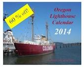 2014 Calendar  Oregon Lighthouses COL-014
