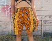 90s High Waist Shorts Ethnic Print S/M