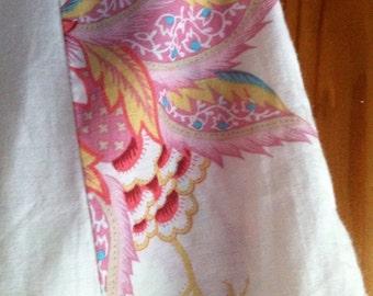 Sale! Vintage Japanese Floral Blossom print Pleated Flared Midi Skirt XS