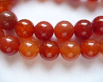 Bead, Red Agate, Gemstone, Dyed,  Heated, 12mm, Round, B Grade, Mohs hardness 6 to 7, Pkg Of 9