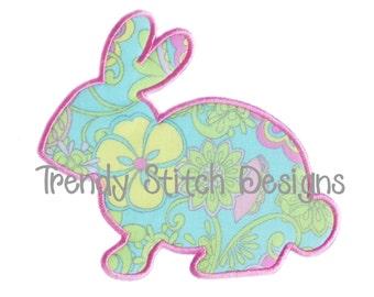 Bunny Rabbit MINI Applique Machine Embroidery Design INSTANT DOWNLOAD