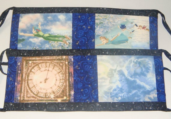 Peter Pan Bumper Pads - 6 piece -  Thomas Kinkade Peter Pan fabric - other fabric choices - available for Baby Registry and Payment Plan