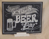 Signature Drinks Chalkboard 11 x 14 Unframed Chalkboard Art Sign with Stand for your Event
