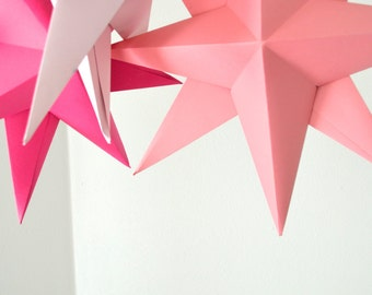 DIY Hanging Paper Star Kit - make your own large folded origami decoration
