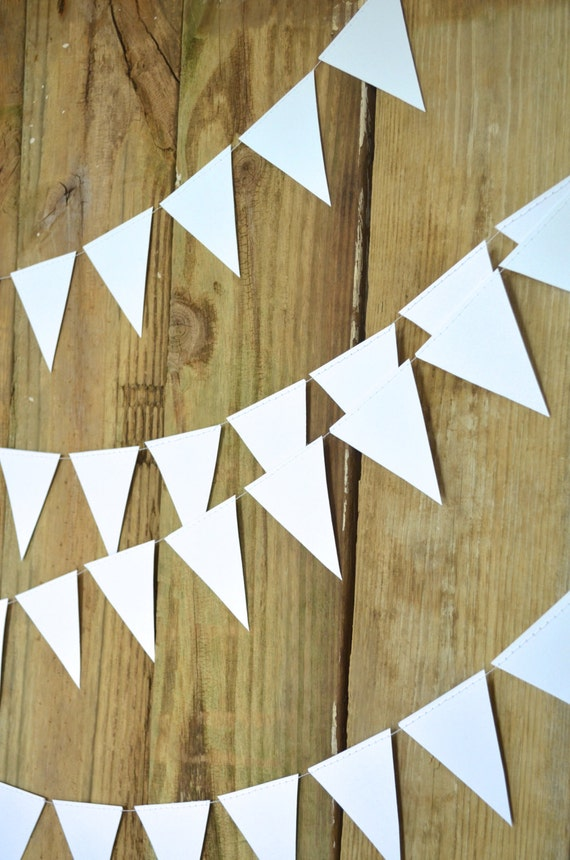 Geometric Triangle Garland in every color  - 10, 15 or 30 feet of bunting