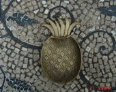 Small Vintage Brass Pineapple Trinket Dish