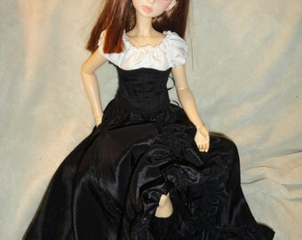 SD BJD Dollfie  Theatre Skirt  Black