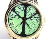 Watch Tree of Life, new handmade watch Gender unisex turquoise