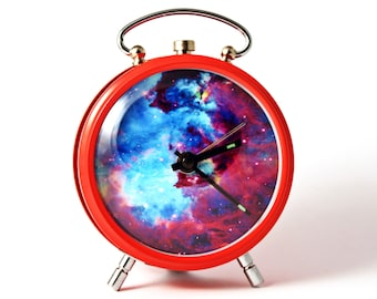 Nebula alarm clock Nebula Hubble Space red alarm clock