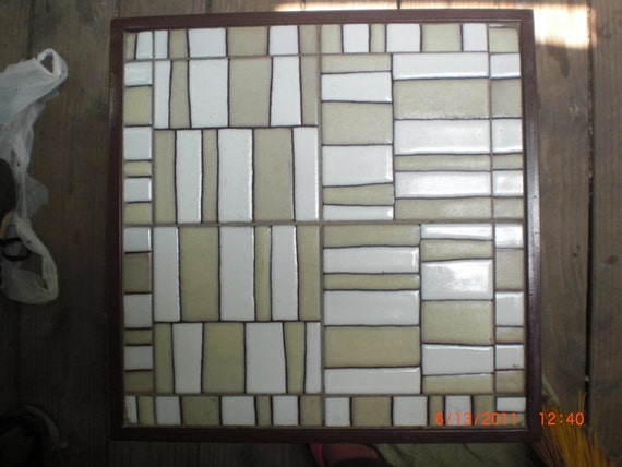Modern handpainted tile 6x6 thatch two color by for Modern house 6x6