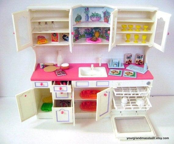 Vintage Tyco Kitchen Littles Kitchen Sink Playset Barbie Doll