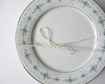 Vintage Noritake Frolic Aqua and Blue Floral Dinner Plates Set of Four