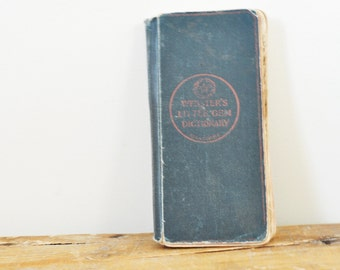 Websters Pocket Size Little Gem Dictionary 1915