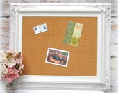 FRAME CORKBOARD DECORATIVE Memo Board White Shabby Chic Home Message Board French Country Kitchen Home Organizer Bridal Gift