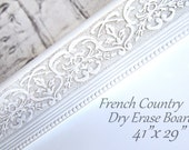 """Extra Large DRY ERASE BOARD For Sale 41""""x29"""" Magnetic French Country Home Office Organizer Large Modern White Framed Dry Erase"""