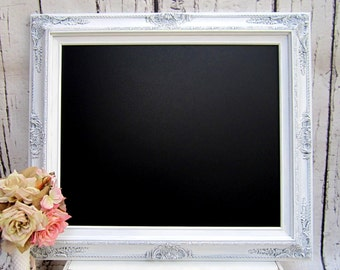 SIGNAGE WEDDING MENU SiGN Swedish Grey Chalkboard Vintage Wedding Board Ideas Shabby Chic Wedding Distressed White Frame Baroque Blackboard