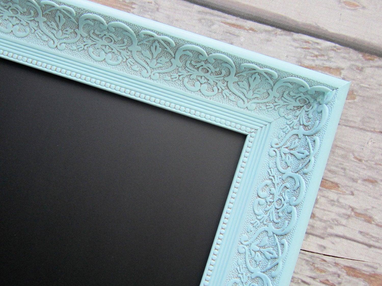Decorative Framed Chalkboard For Sale Teal Blue By