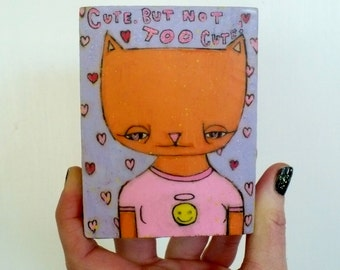 Daria, Kitty Cat, Quinn, sick sad world, mtv, cartoon, pop cuture, cute, cutie, pink, smiley face, heart