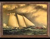Sailing Ship Miniature Dollhouse Art Picture 6062