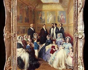 Royal Family Miniature Dollhouse Doll House Art Picture 6003