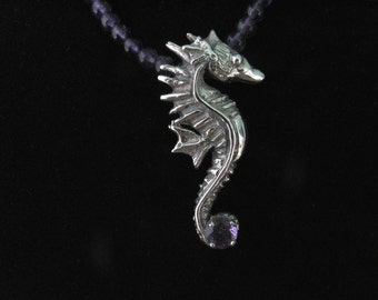 Sea Horse with Amethyst