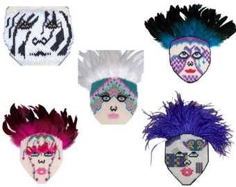 Plastic Canvas Face Masks Set of Five PDF Patterns  Instant Download