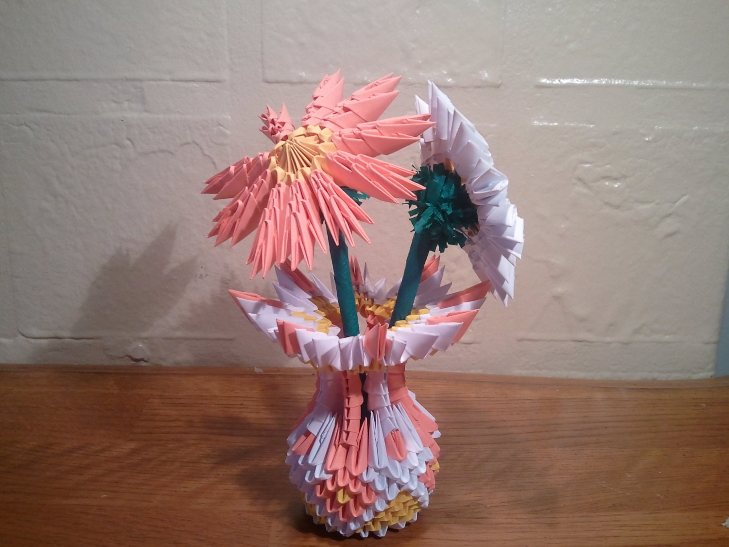 3d origami small vase with flowers - photo#44