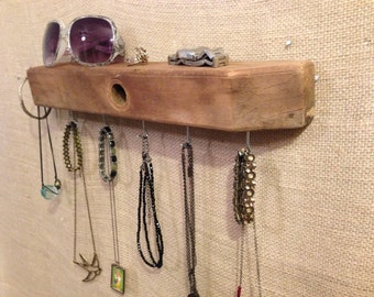 Upcycled Jewelry Organizing Display (Wood Block)