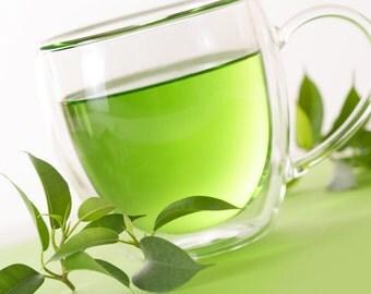 BODY SCRUB ~ Green Tea Body Scrub Sugar or Sea Salt Body Polish 8 oz