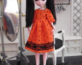 ORANGE CLOVES dress  for MONSTER High doll