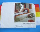 Wamsutta Tomorrow's Rainbow NEW VINTAGE Twin flat sheet 1980s