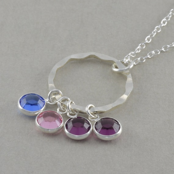 mothers birthstone necklace family jewelry by