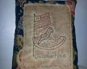 Prim Stitchery Summertime Pillow ~ SCOFG