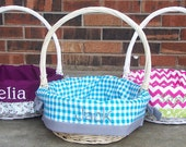 Personalized Easter Basket- 14in. TAN- 45 CUTE Fabrics