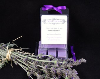 English Lavender Soy Melt ESSENTIAL OIL (6 cubes)