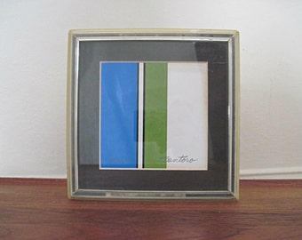 mcm, Syroco Art by Nicole Santoro - vintage 1970s Seigraph, hand signed, limited edition - in MOD Lucite Frame, mid century modern, 70s