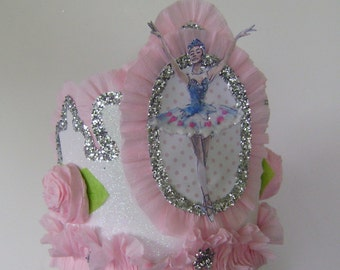 Ballerina Birthday Crown, Ballerina Birthday Hat, Ballet Birthday Hat, Customize