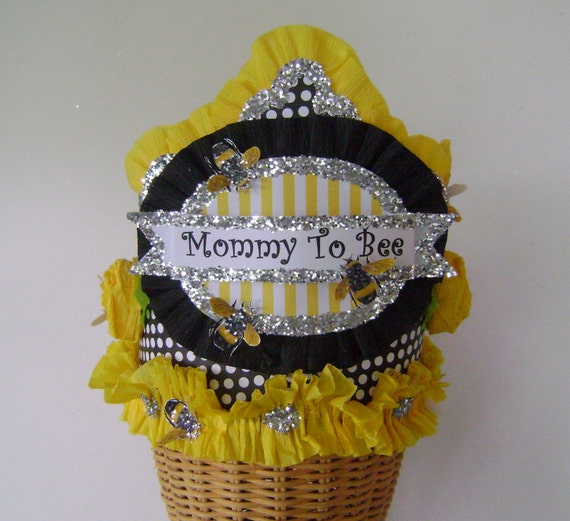 baby shower crown baby shower hat mommy to be hat yellow and black