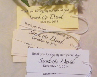 Wedding Tags Personalized, Wedding Tags, Favor Tags, Gift Tag 16 pc