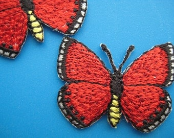 Clearance~ 10 pcs Iron-on Embroidered Patch Butterfly 1.4 inch