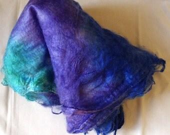 "Hand Dyed Silk Hankies ""Fibery Jewels"" 1/2 Oz./14 Grams"