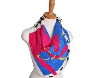 Vintage 80s Art Institute of Chicago Designer Silk Scarf - Vincente Minetti Design