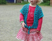 Crochet pattern : lace-vest for girls in 3 sizes (2y-4y and 6y)