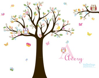 Nursery Wall Tree Decal Nursery Owl wall decal