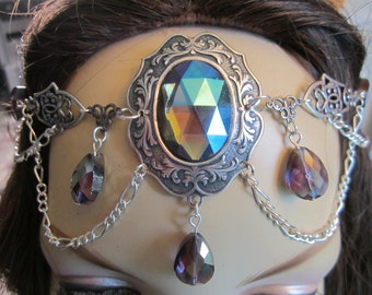 Shimmering Circlet of the Elven Warrior Druid LARP Bridal Renaissance Cosplay